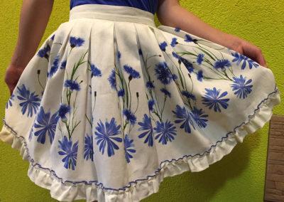 Skirt - printied cornflowers