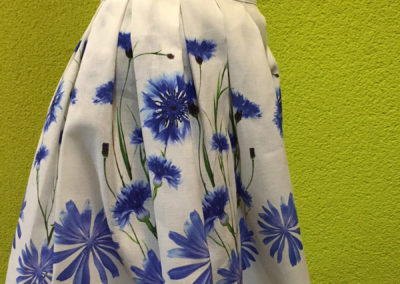 Skirt - printed cornflowers (2)